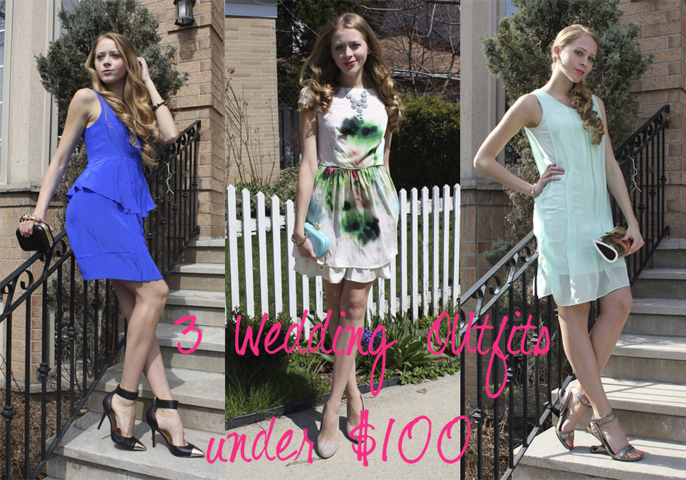 3 Prom or wedding outfits under $100