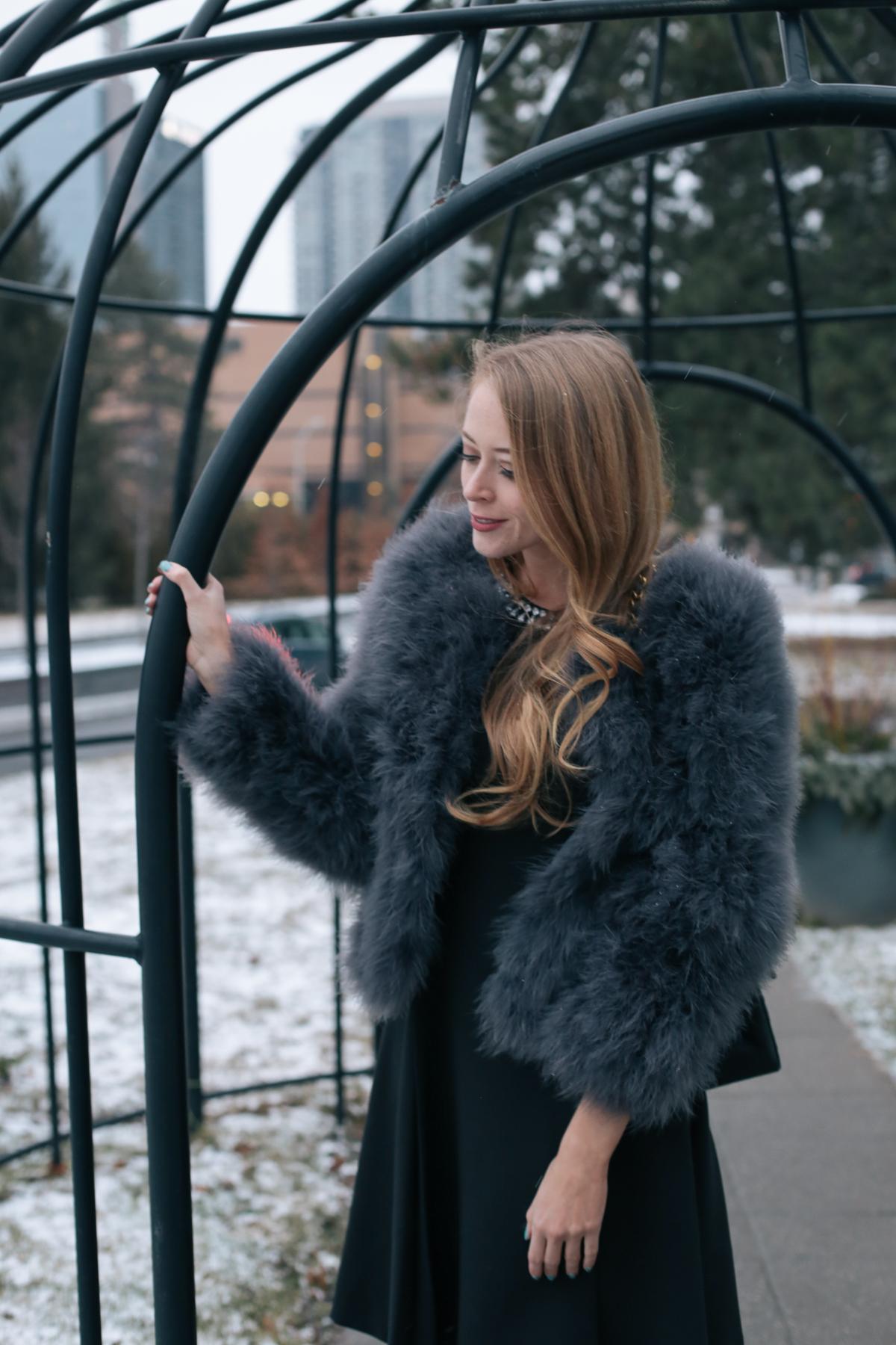 Chanel Jumbo bag feather coat (4 of 10)