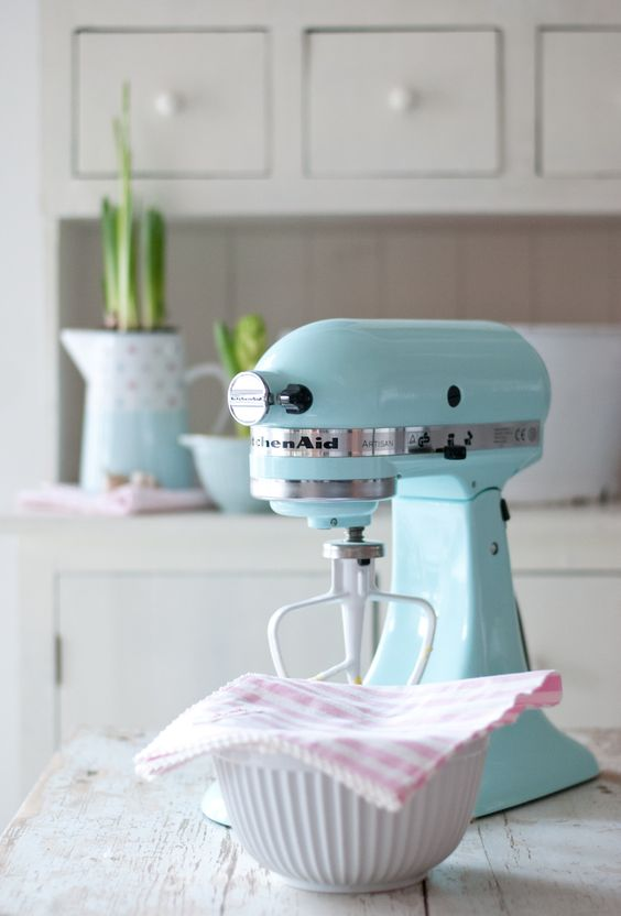 aqua kitchenaid mixer