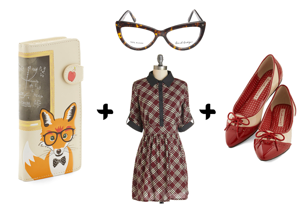back to school outfit vintage style