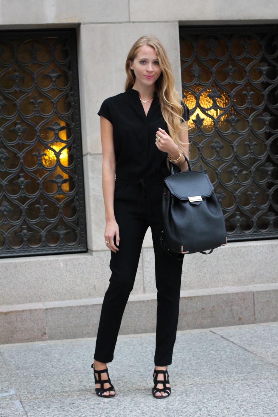 Work Wear Wednesday: Black jumpsuit