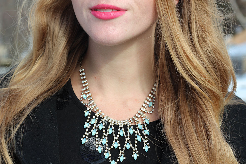 blue statement necklace turquoise