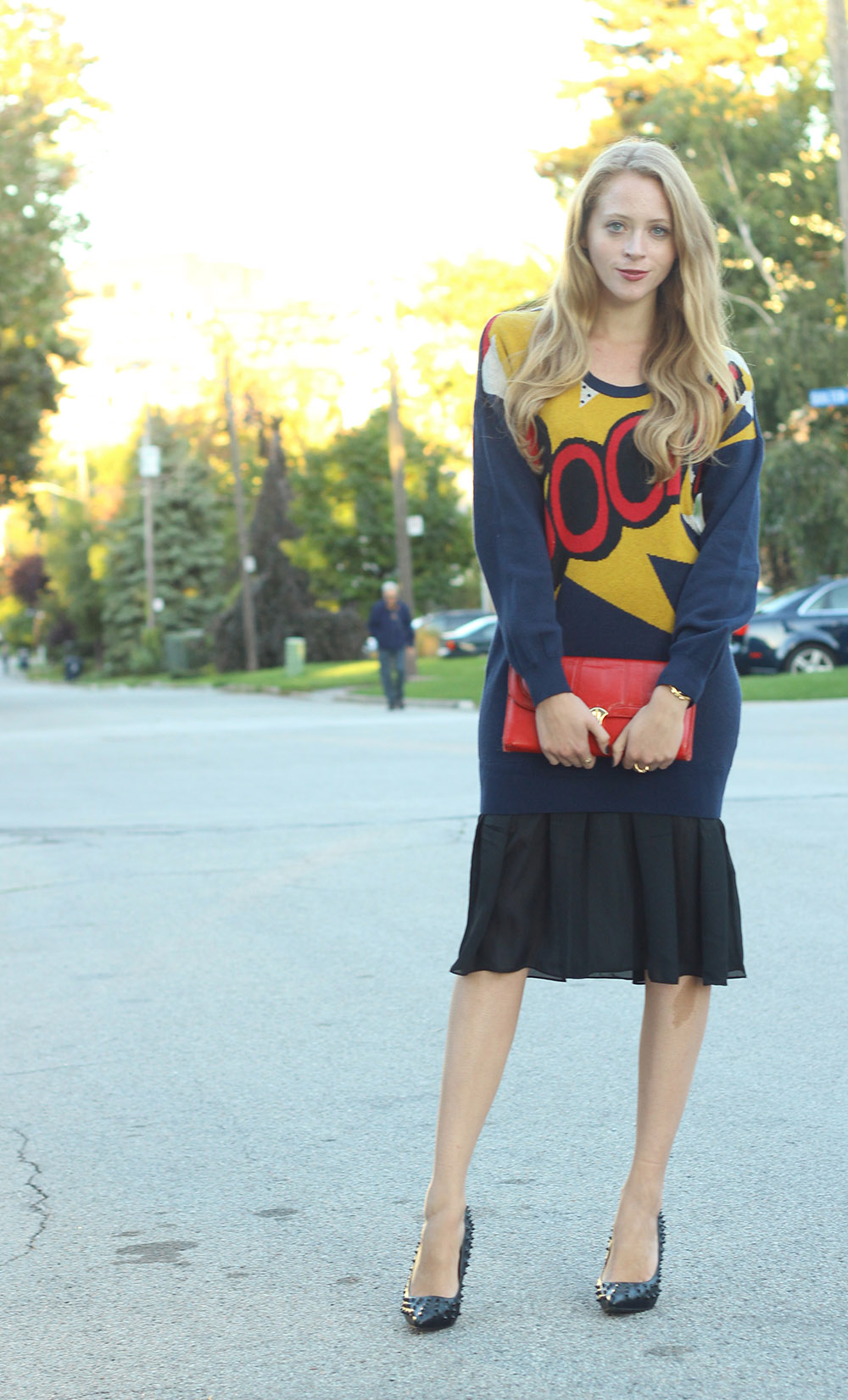 boom sweater dress
