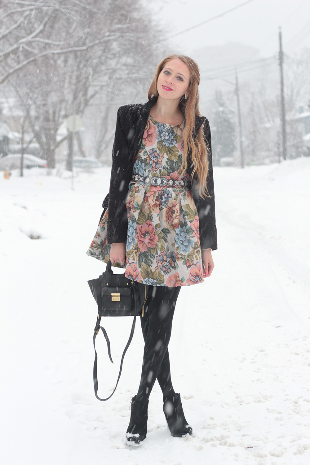 chicwish floral coat