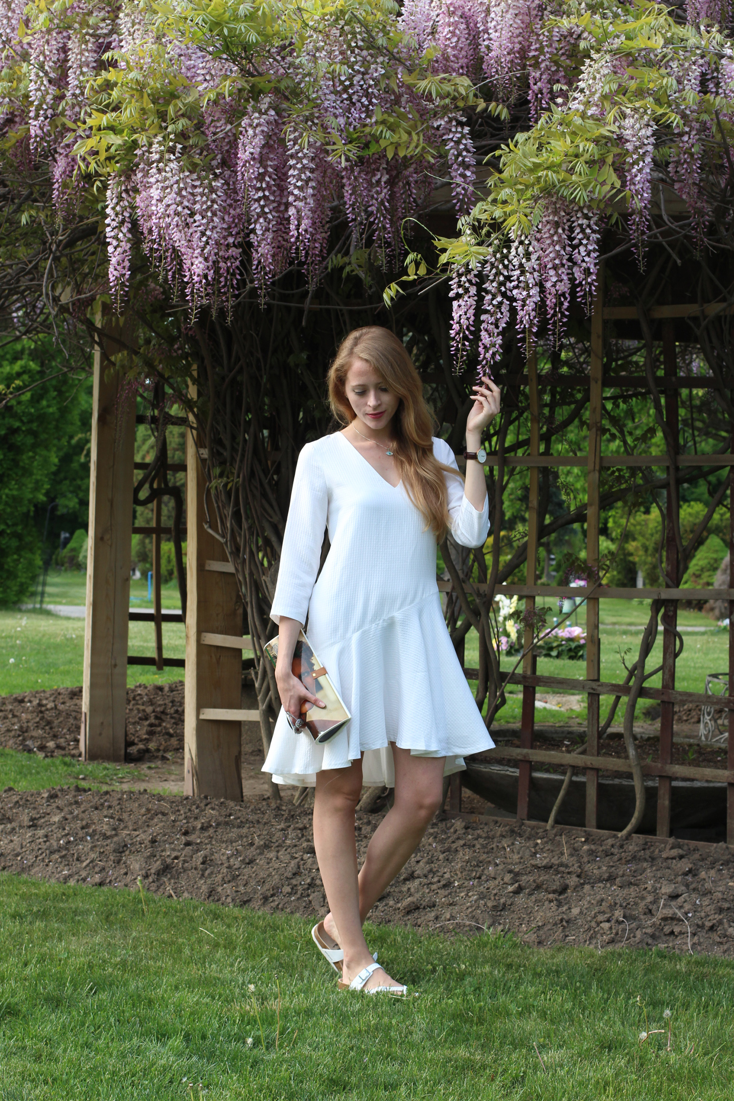 club monaco white dress