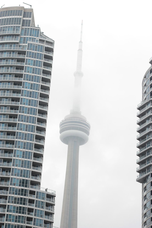 cn tower in fog