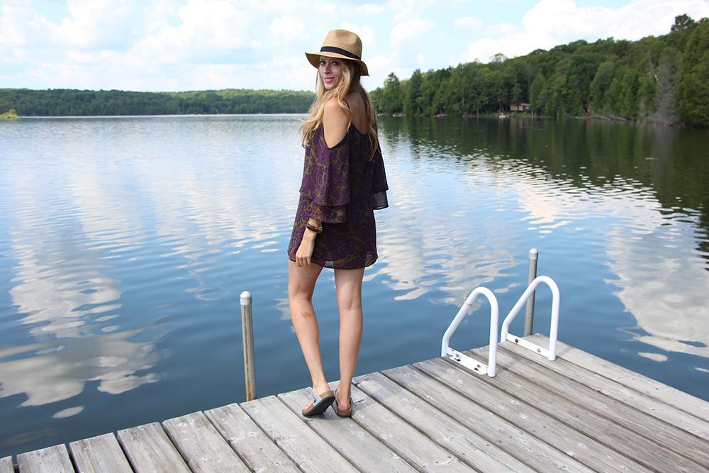 Cottage outfit: Off-the-shoulder-dress
