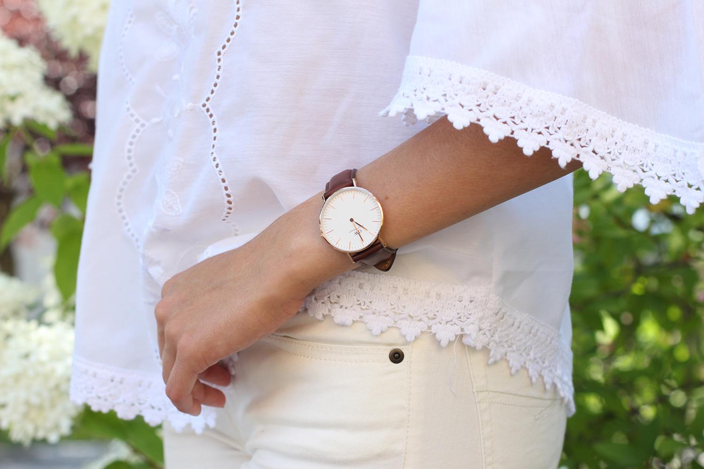 daniel wellington watch brown leather strap