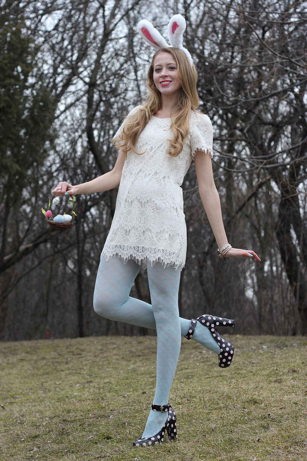 easter bunny lace dress