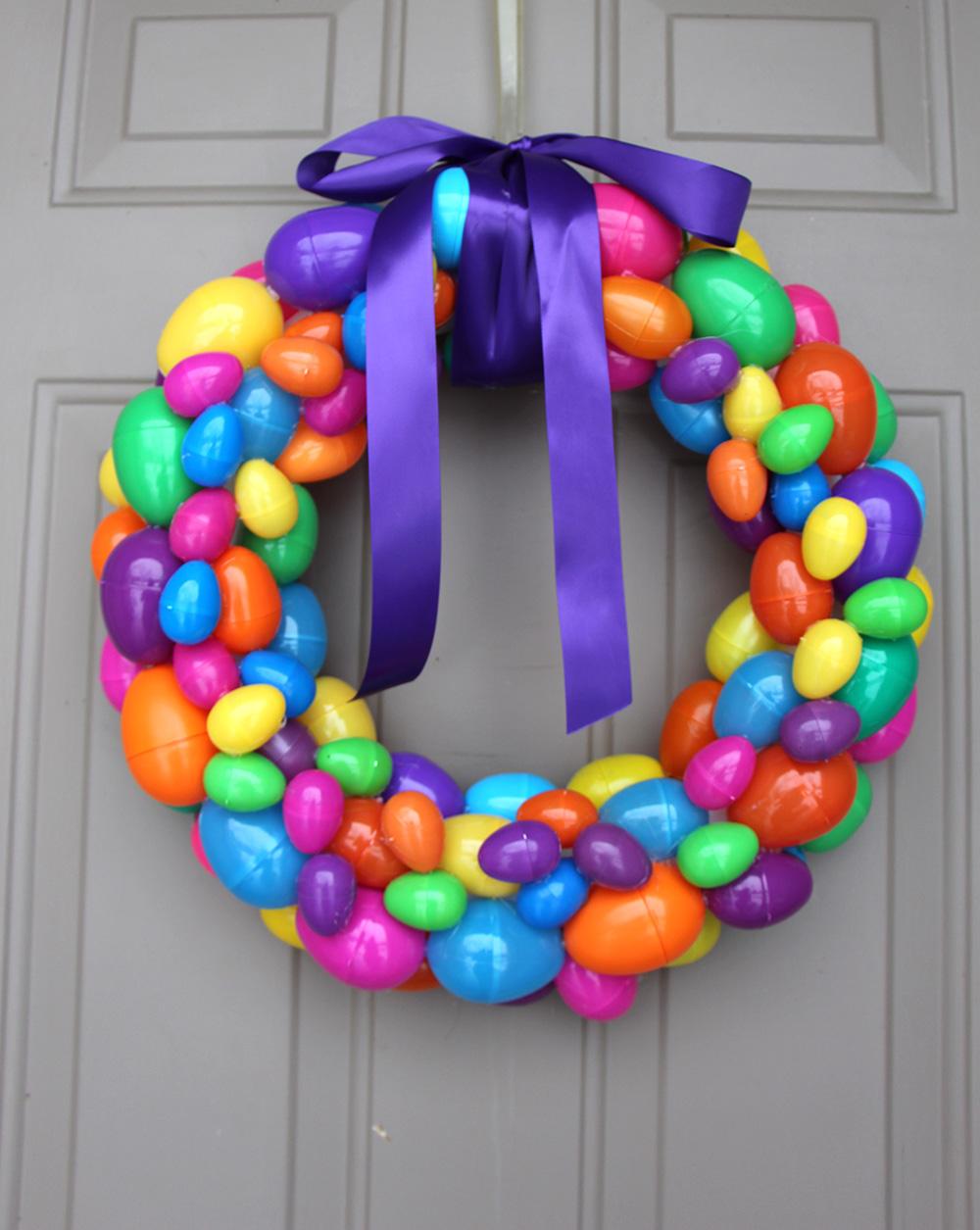 easter egg homemade wreath