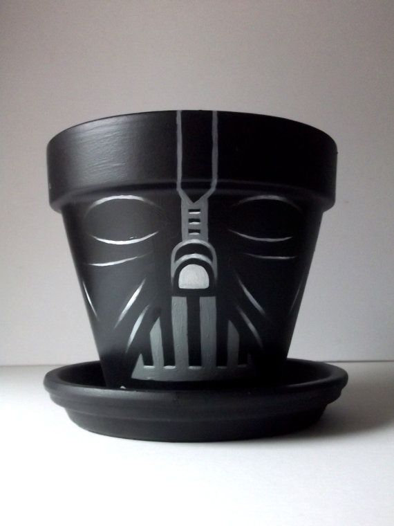 father's day gift idea darth vader flower pot