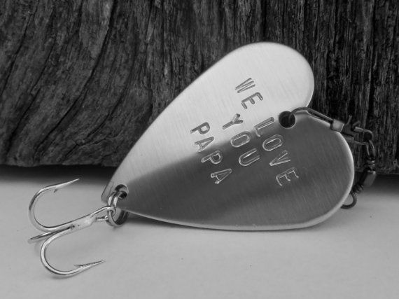 father's day gift personalized fish hook