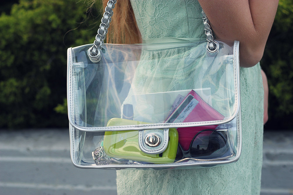 forever 21 clear purse