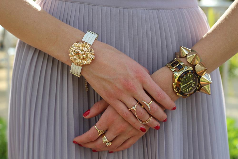 gold lion bracelet