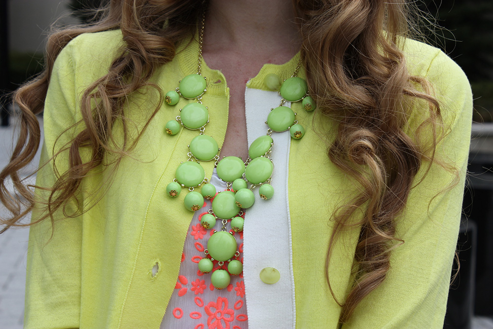 green j crew bubble necklace