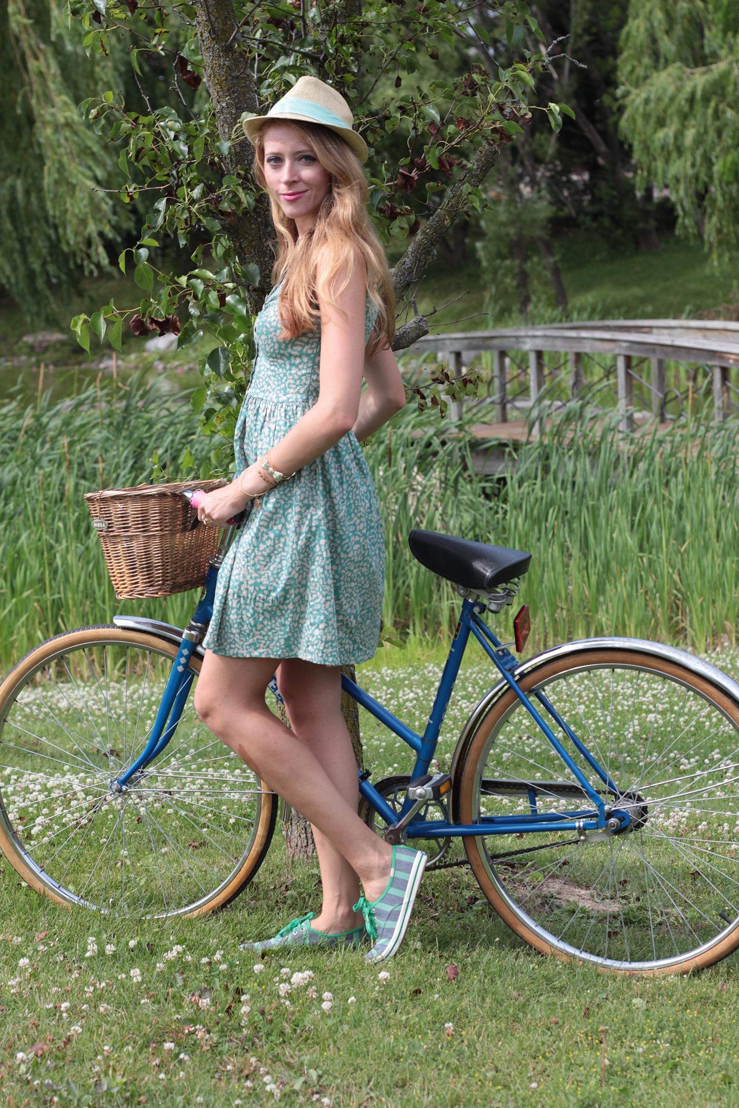 green vintage dress kate spade for keds fall 2014