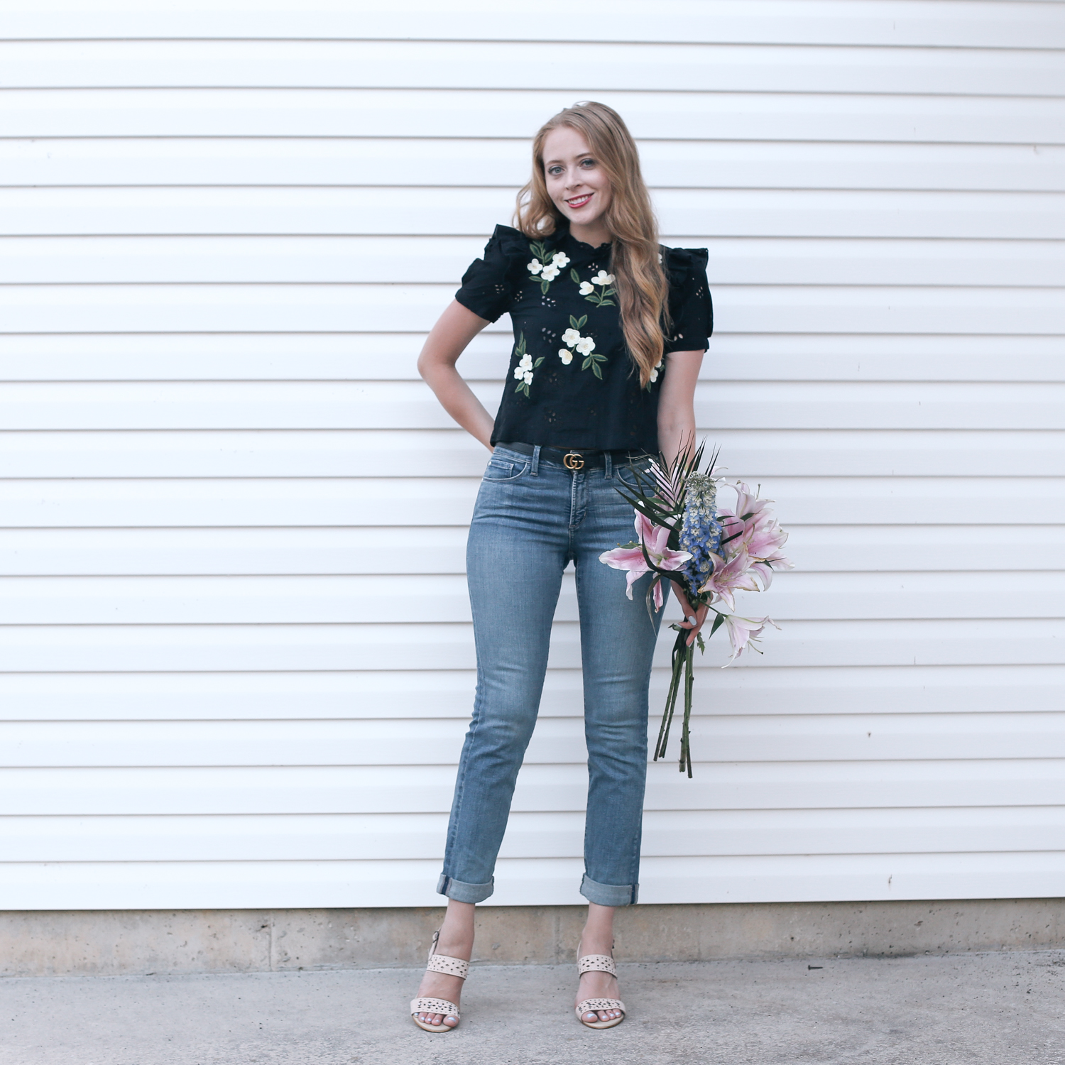 how to look one size smaller in jeans nydj (5 of 6)