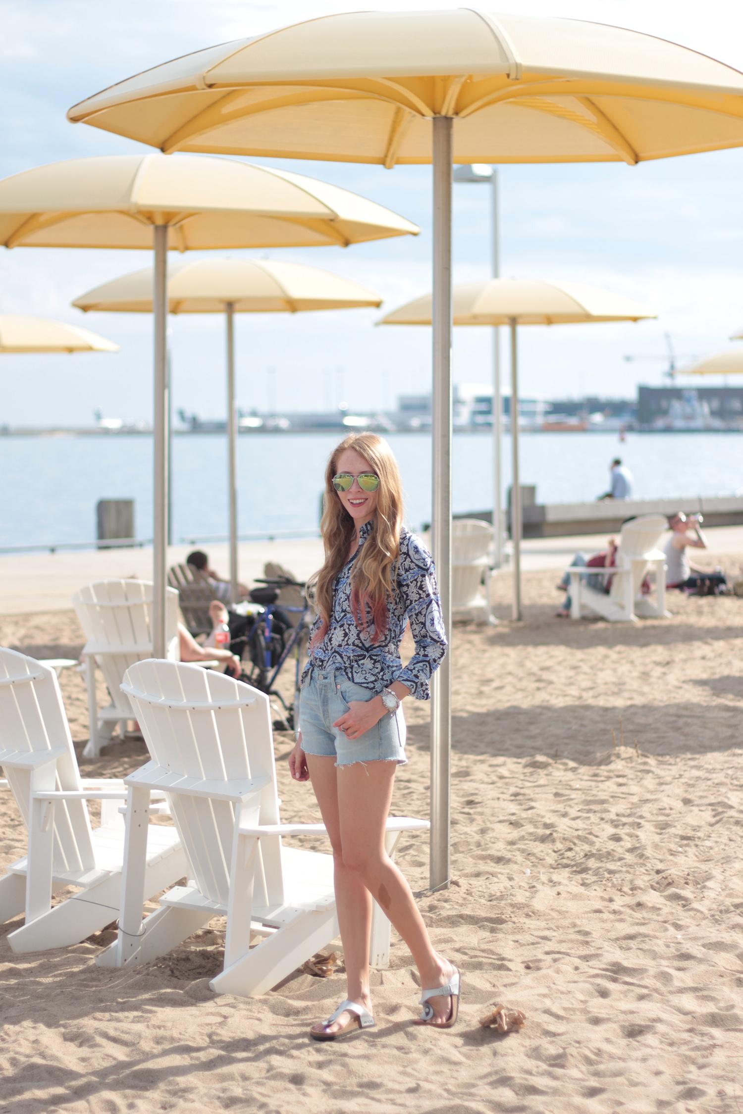 hto park urban beach toronto mirror rayban aviator sunglasses