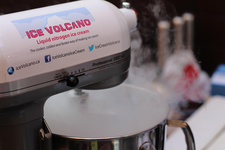 ice volcano nitrogen ice cream