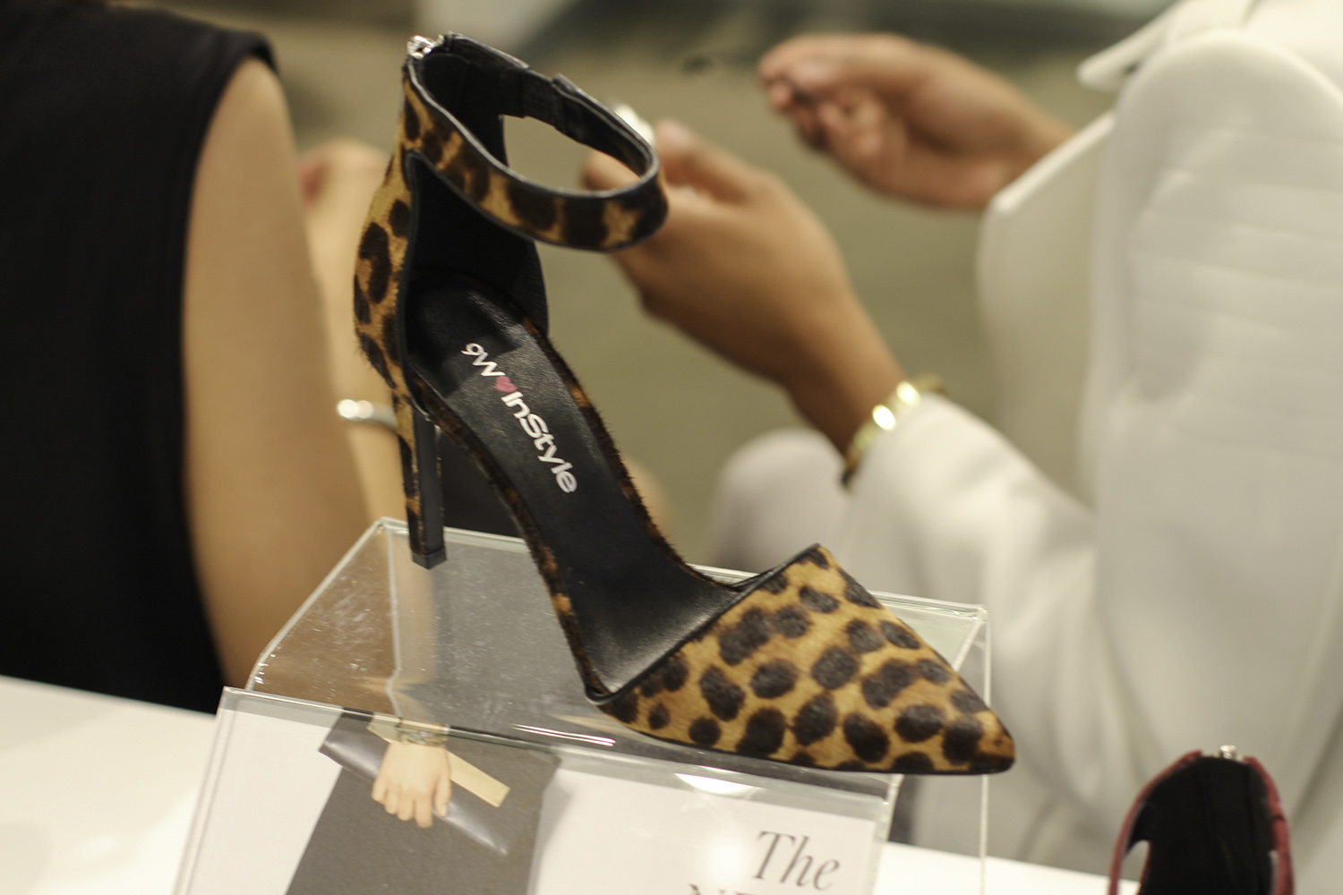 instyle for nine west leopard pump