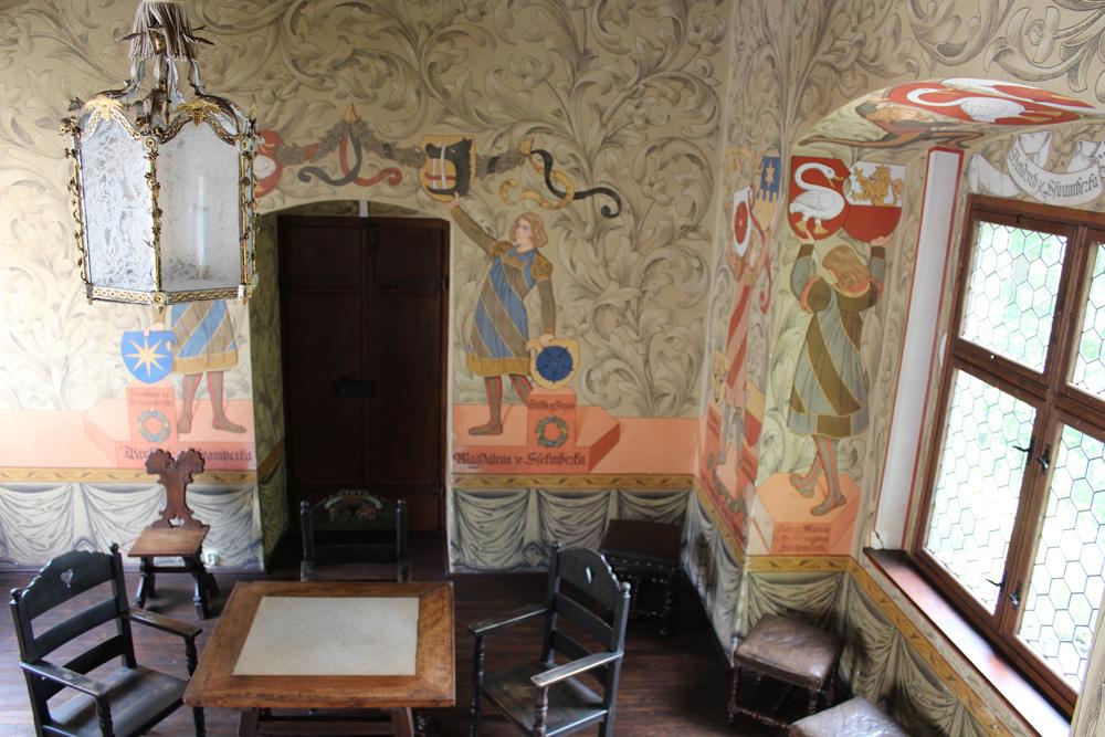 interior zvikov castle