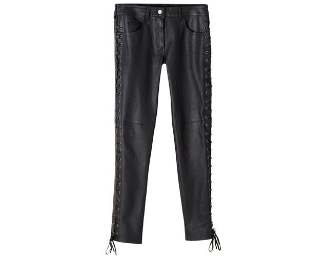 isabel marant black leather pants h&m