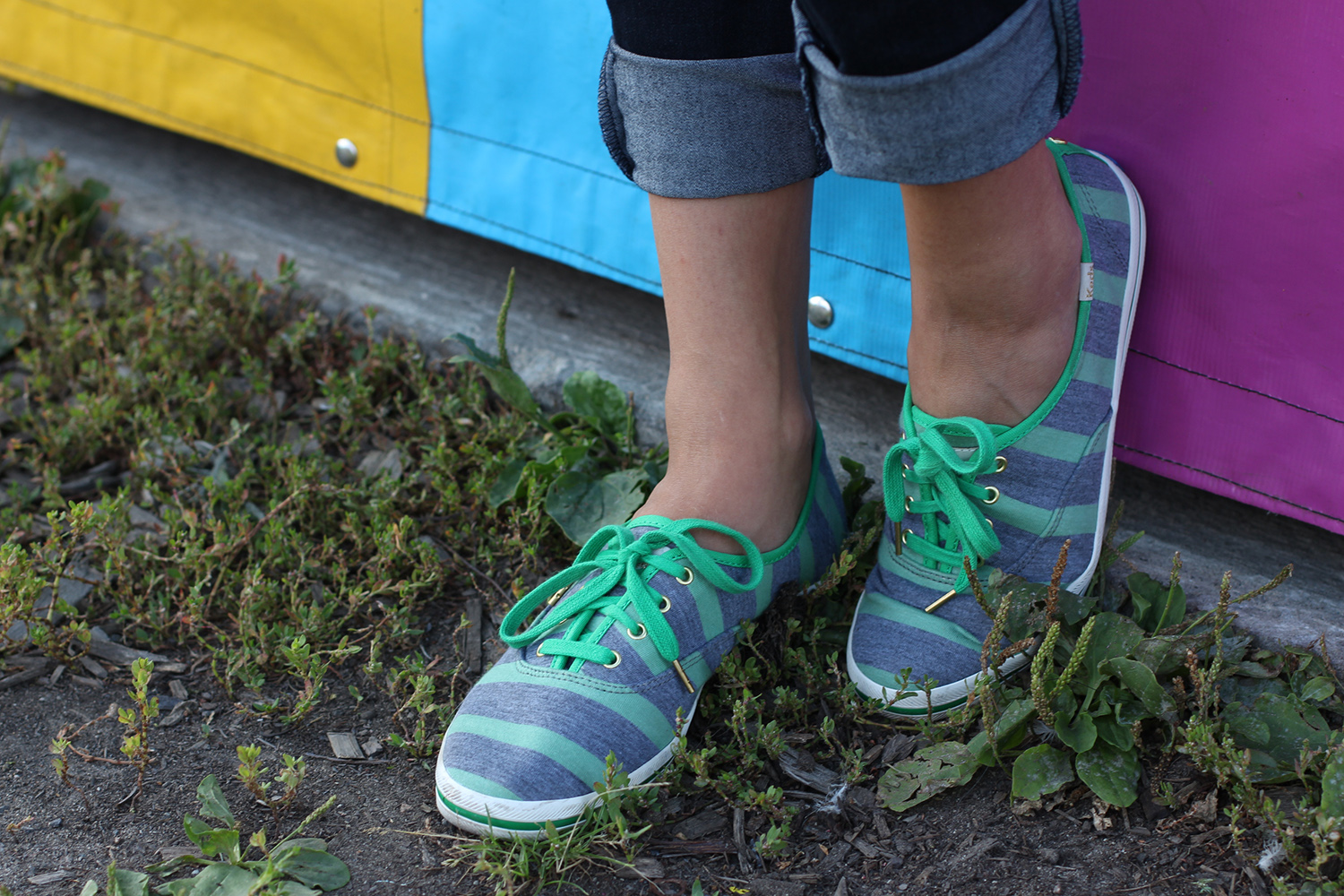 kate spade for keds stripe champion sneakers
