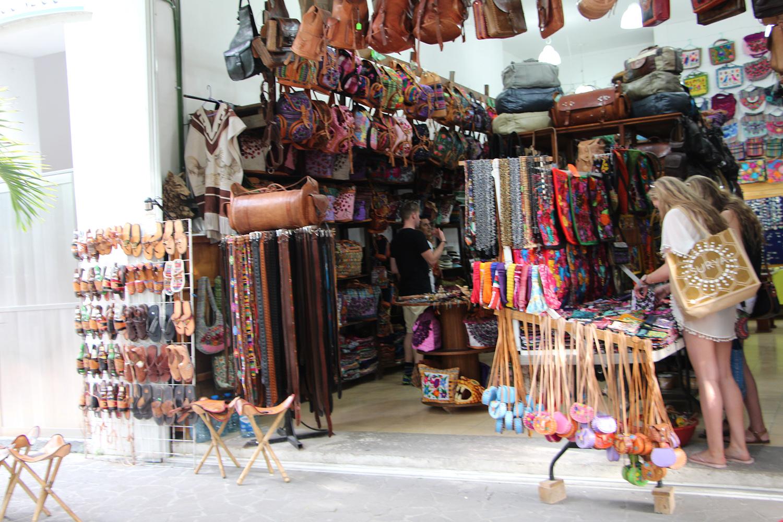 leather goods shopping in playa del carmen