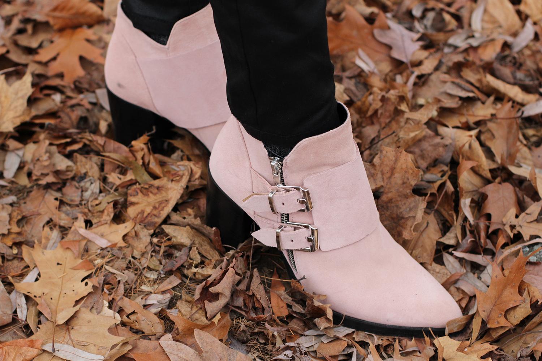 light pink zara booties