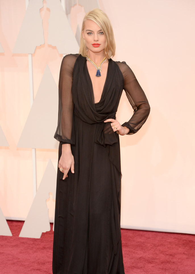 margot robbie saint laurent oscars