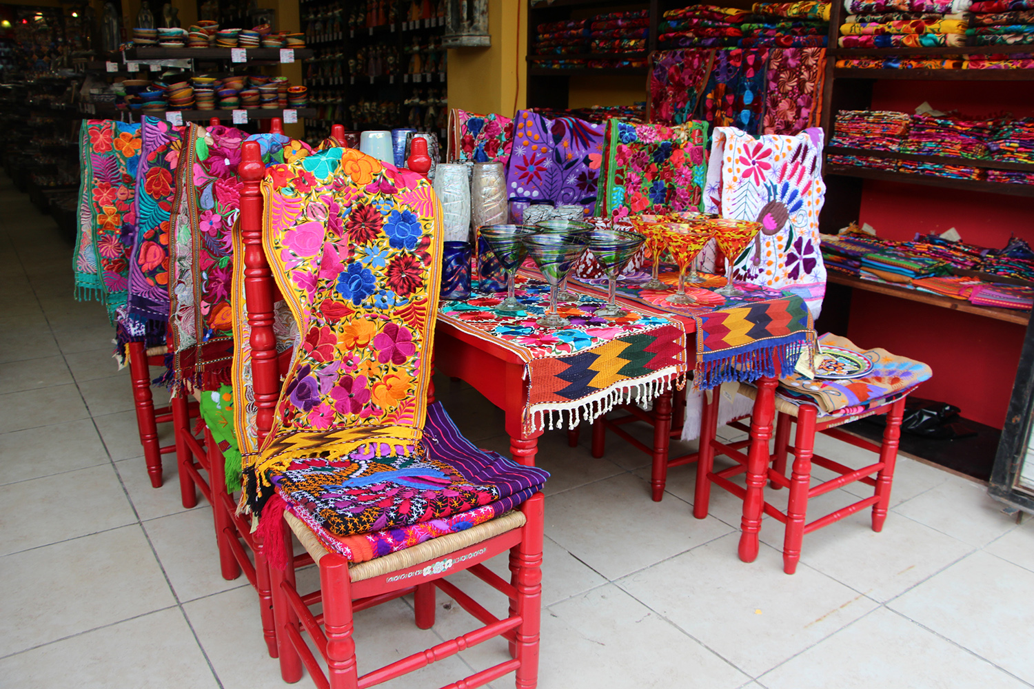 mexican embroidery shopping playa del carmen