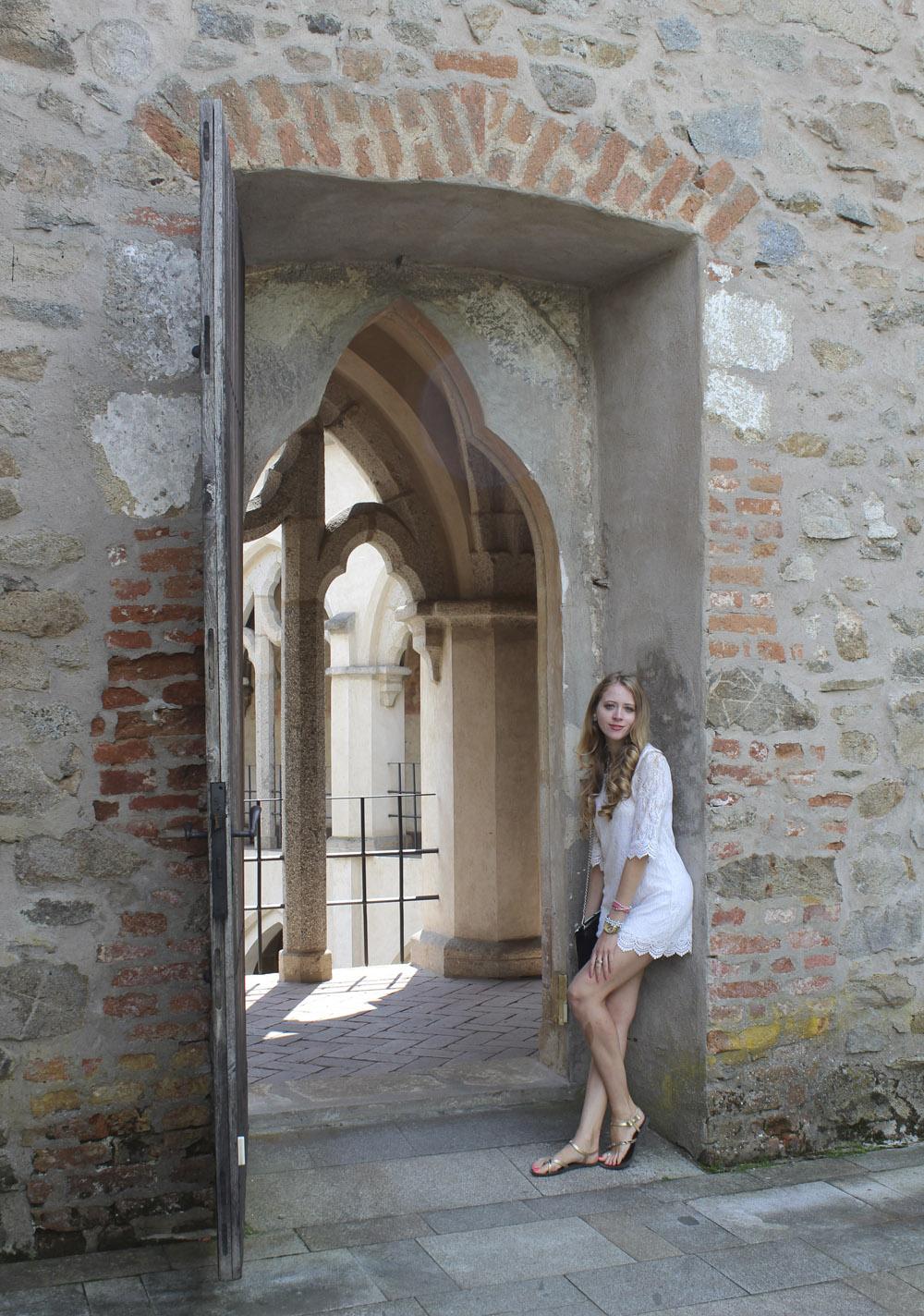 midieval castle ruin door