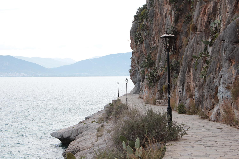 nafplio greece rocky cliff