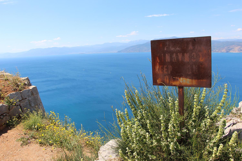 nafplio palamidi view of bay