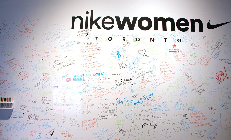 nike women toronto 15k wall