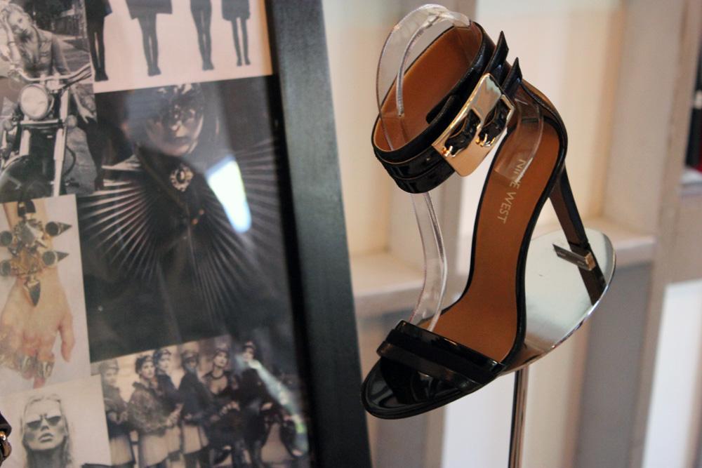 nine west spring 2014 black ankle strap sandal