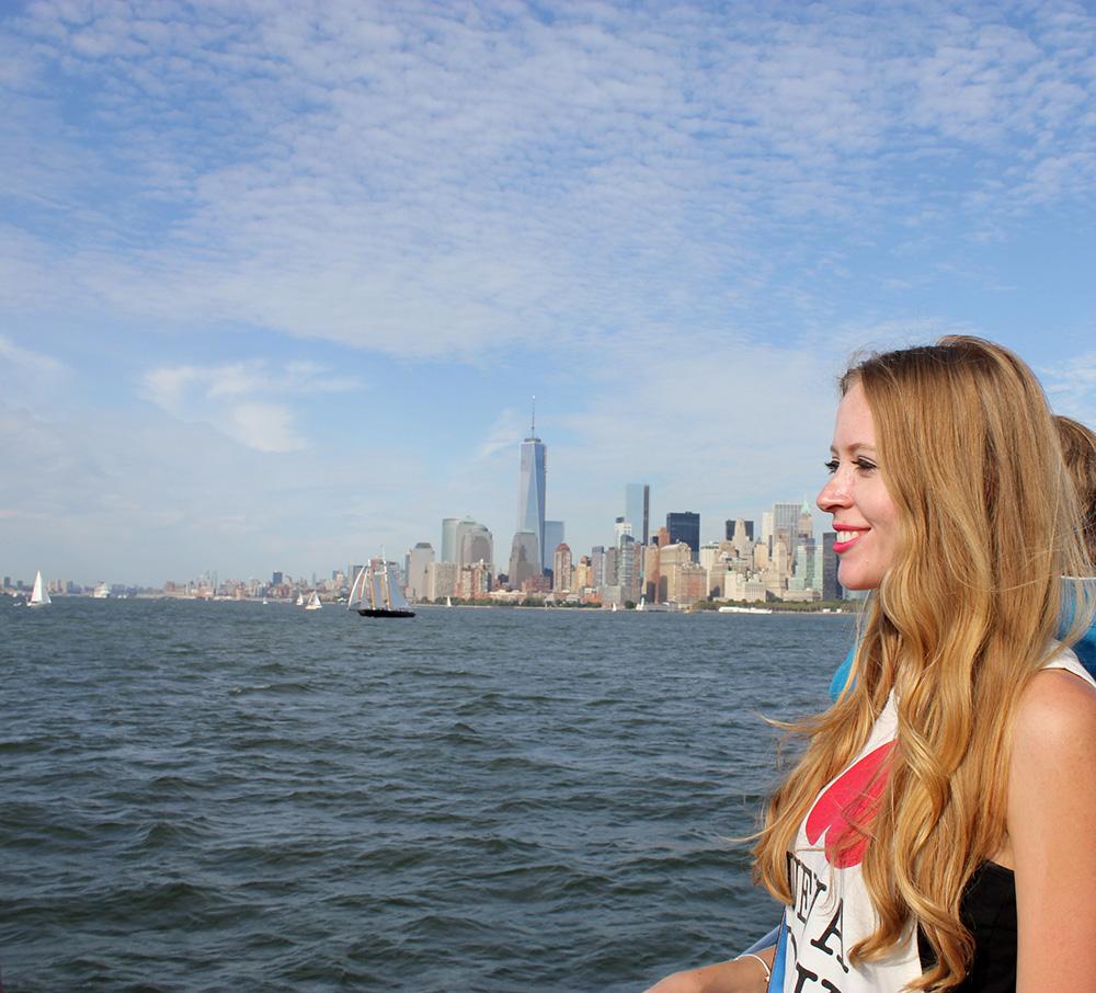 ny skyline by boat