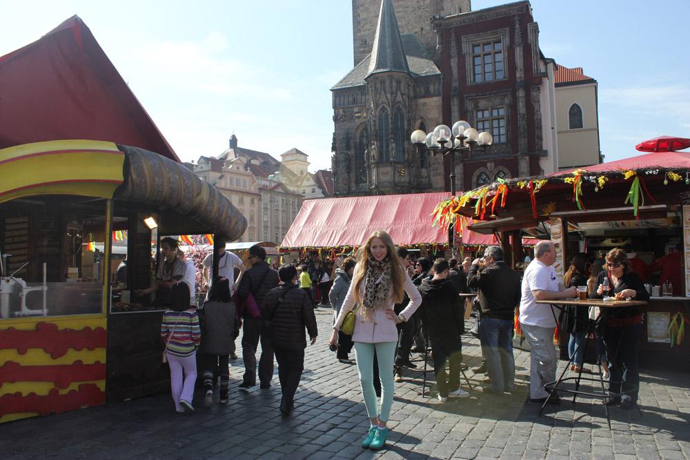 old prague square easter
