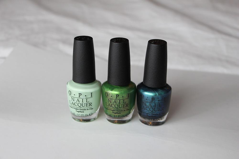opi hawaii green and blue shades