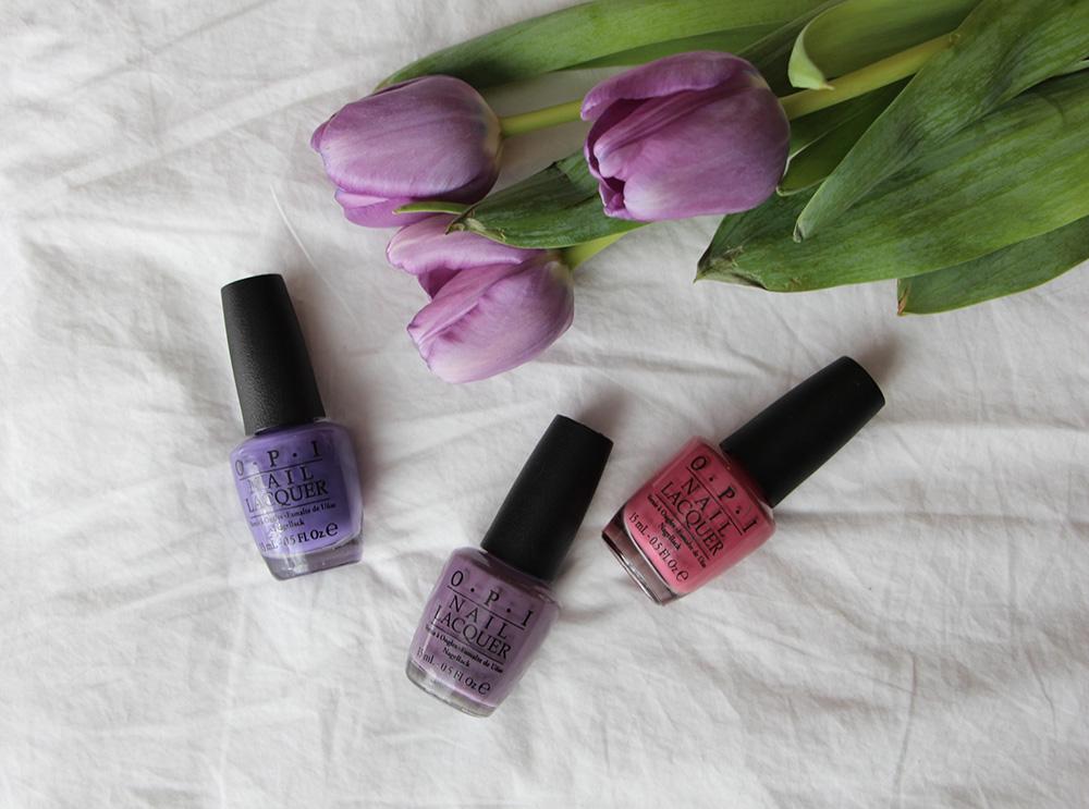opi hawaii purple colours