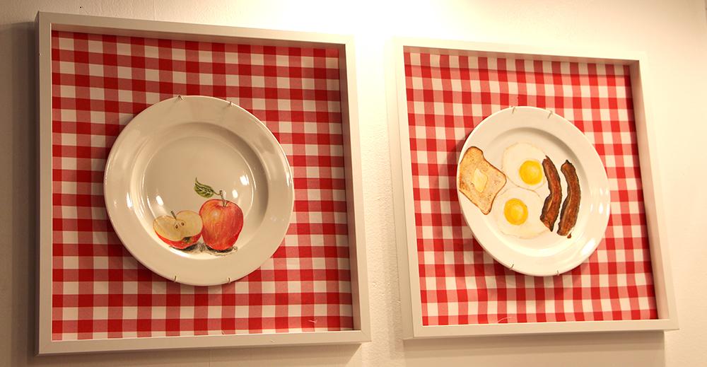 painted plates food