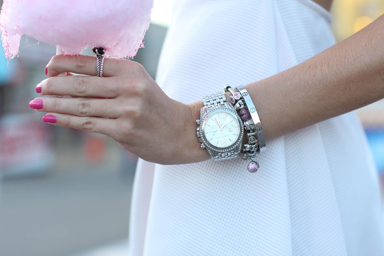 pandora bracelet and ring mk silver watch