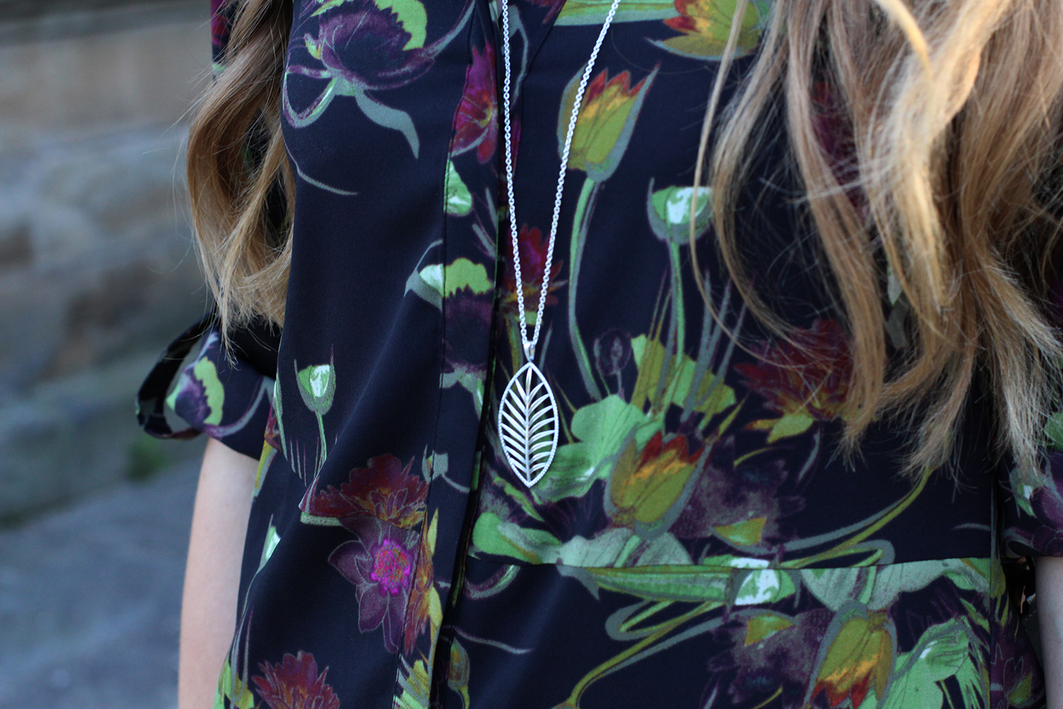 pandora tropical palm necklace