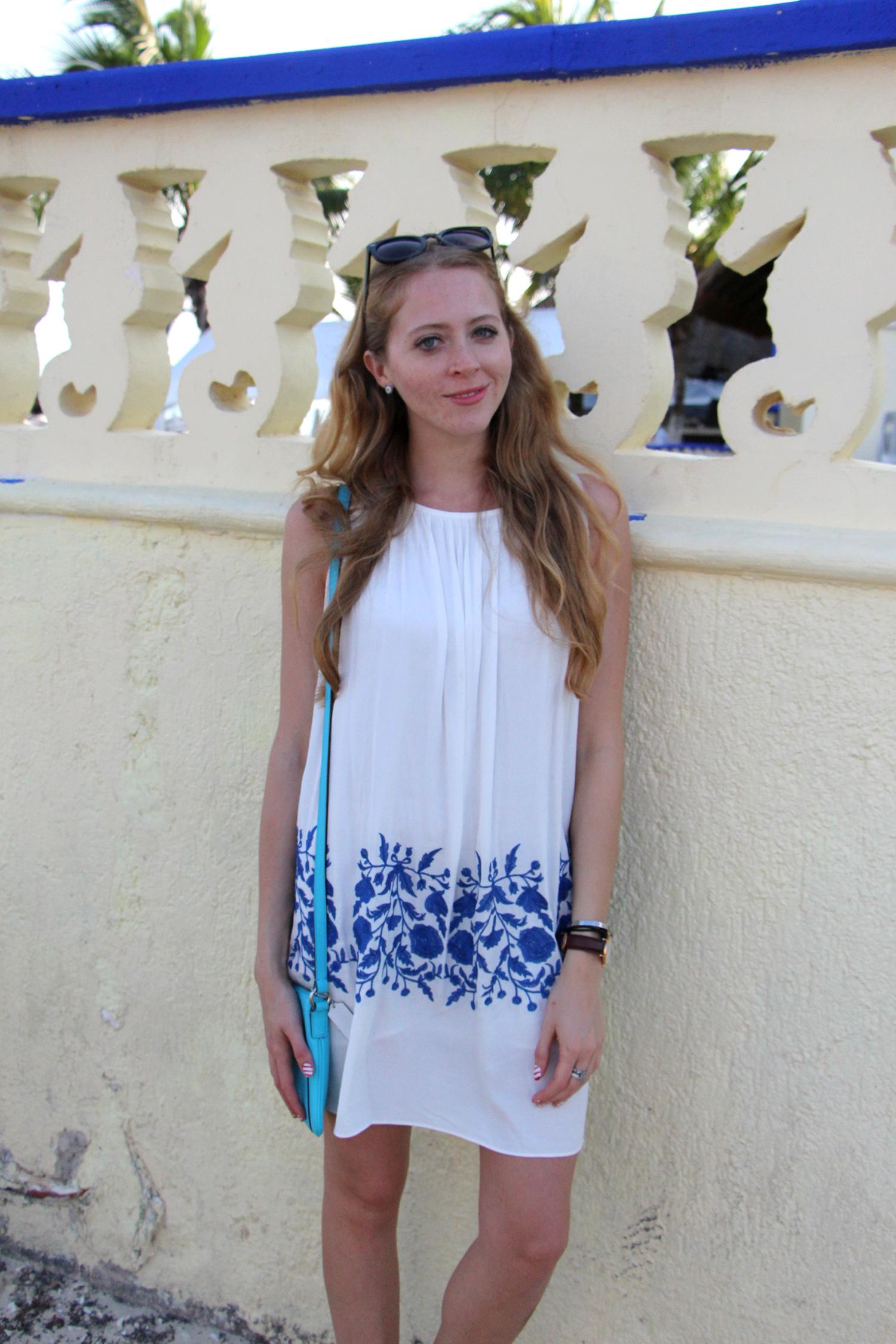 playa del carmen mexico white beach dress