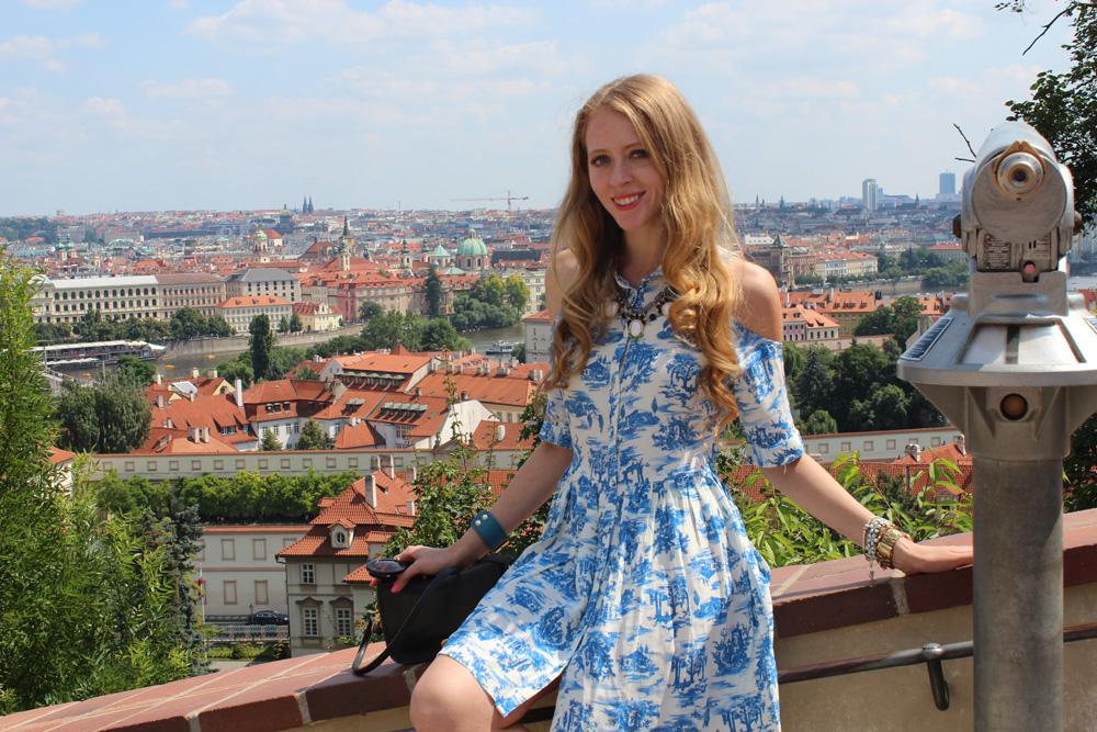 prague castle hilltop view