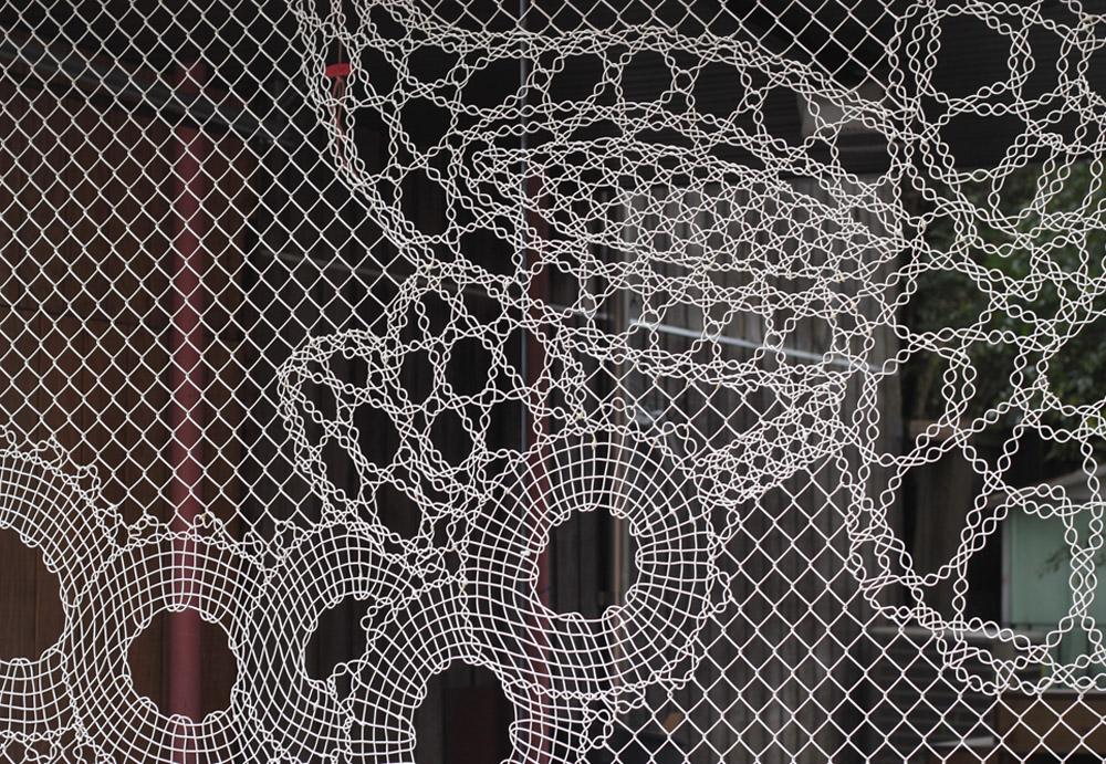 pretty chainlink fence