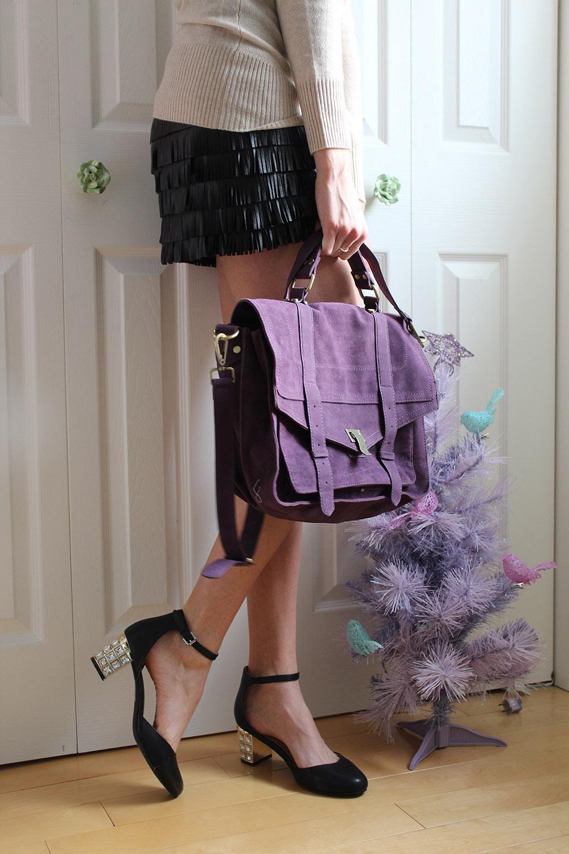 purple persunmall purse