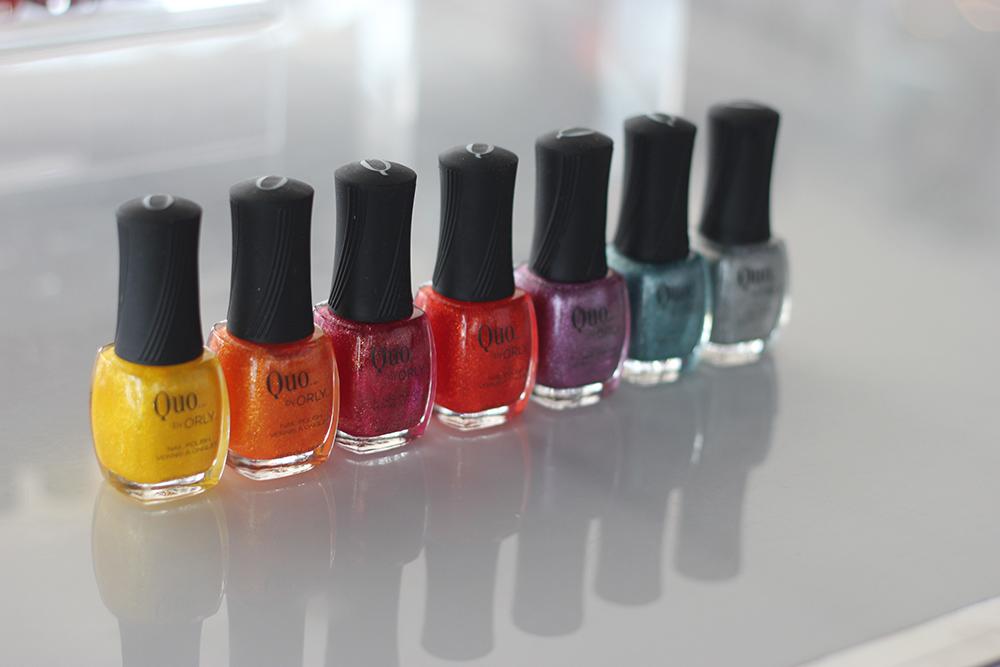 quo rainbow nail polish