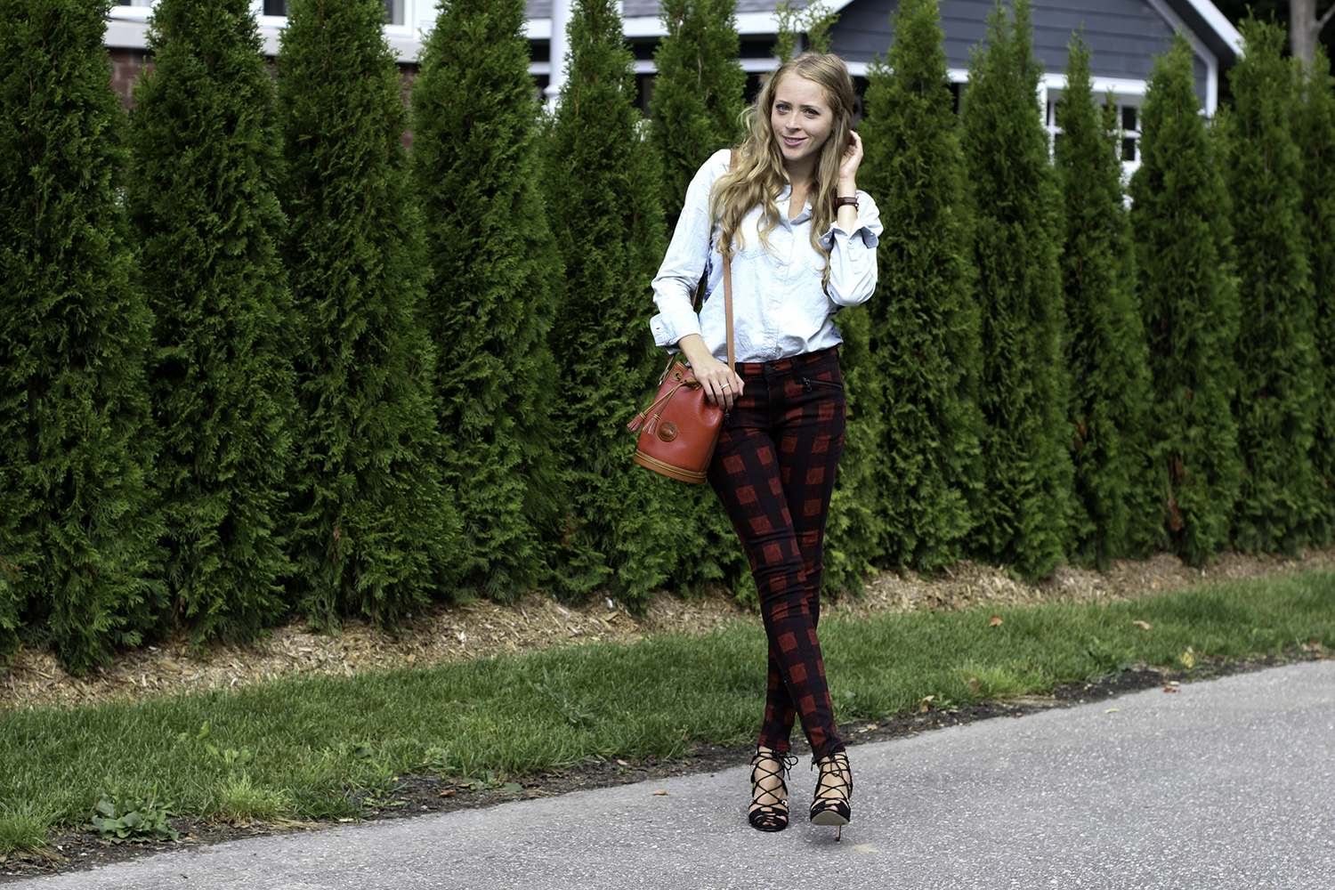 rag and bone red plaid jeans