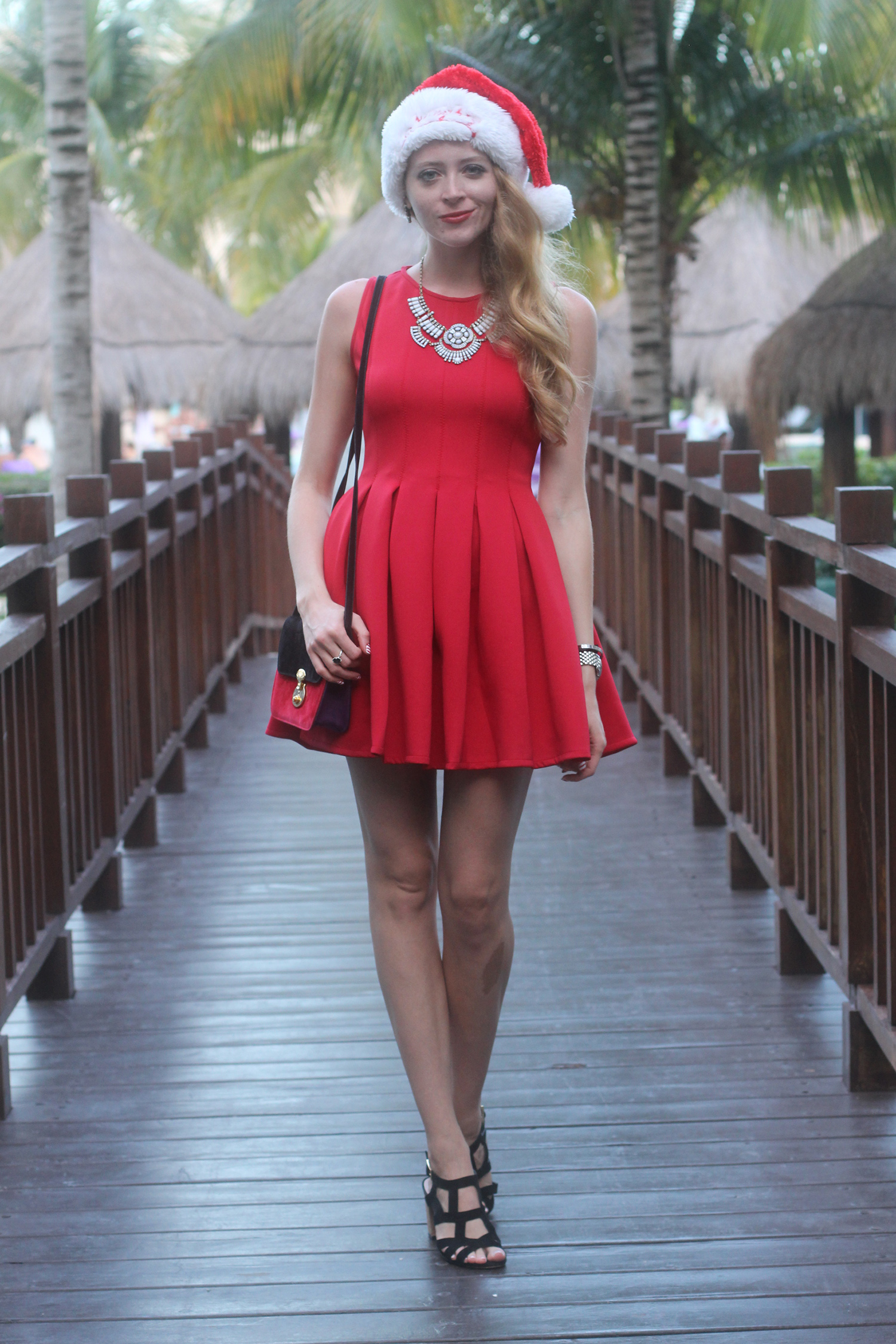 red dress christmas outfit